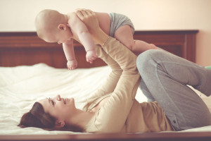 Mother and Baby in Healthy Home